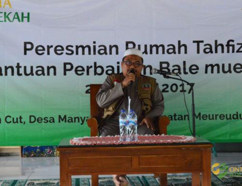 Cinta Sedekah Resmikan Rumah Tahfizh di Pidie Jaya Aceh