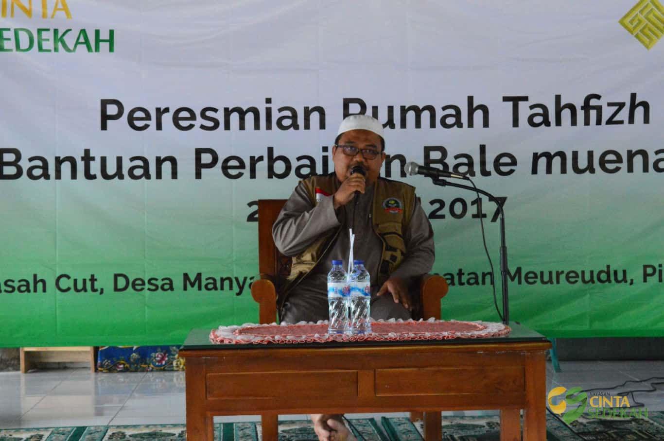 Peresmian Rumah Tahfizh di Pidie Jaya Aceh 01
