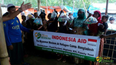 Penyaluran Bantuan Peduli Rohingya II 10