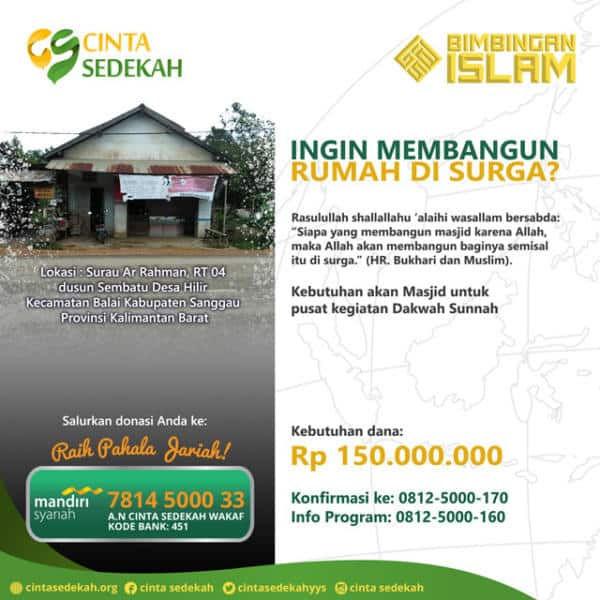 Program Donasi Pembangunan Surau