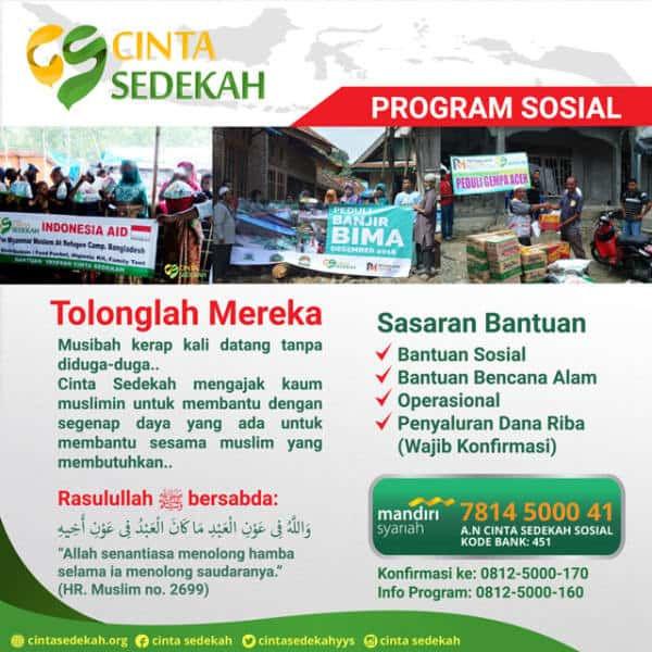 program sedekah sosial
