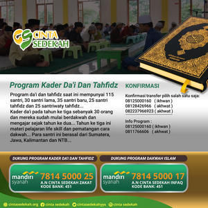 Program Kader Da'i Dan Tahfidz