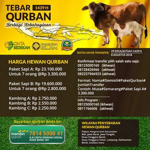 Tebar Qurban 1439H