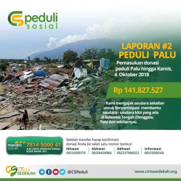 CS PEDULI - PALU (Laporan DONASI #2)