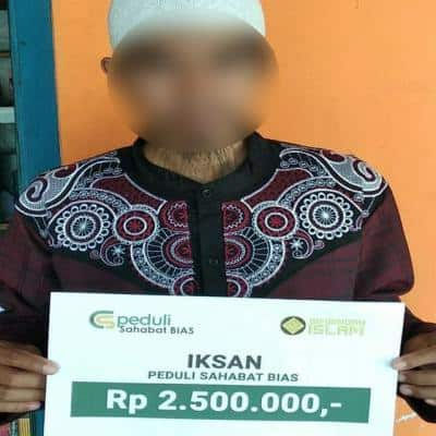 CS Peduli Sahabat Bias - Bantuan Biaya Pendidikan Untuk Keluarga Bapak Iksan Abu Ihsan