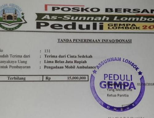 CS Peduli Sosial – Peduli Lombok