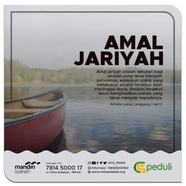 APAKAH YANG DIMAKSUD AMAL JARIYAH?