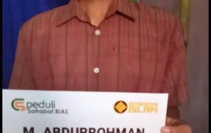 Bantuan Biaya Pendidikan Untuk Keluarga Bapak M Abdurrohman