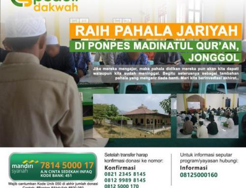 CS Peduli Dakwah – Ponpes Madinatul Qur'an Jonggol