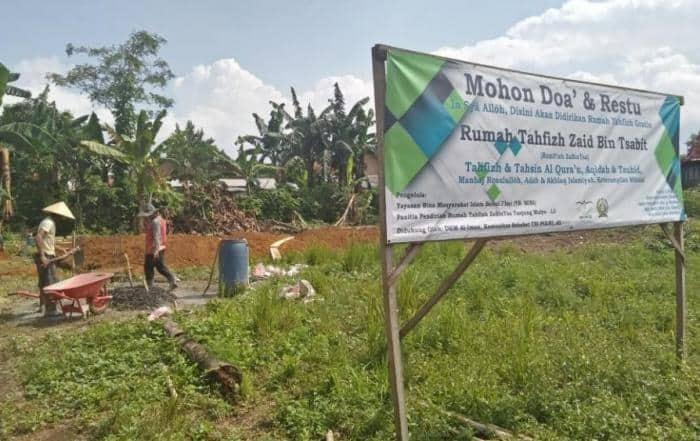 Bantuan Wakaf Mahad Tahfizh Al-Qur'an Zaid bin Tsabit Lampung Utara