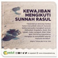 Kewajiban Mengikuti Sunnah Rasul