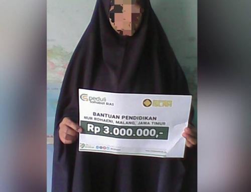 Bantuan Biaya Pendidikan Ibu Nur Rohaeni