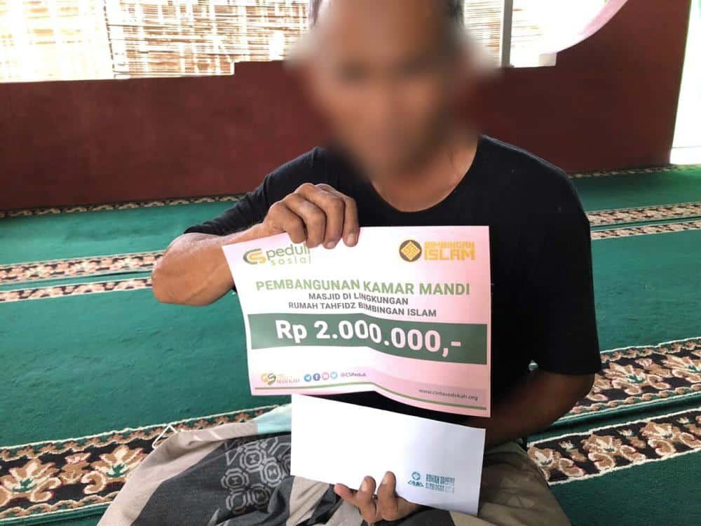 Pembangunan Kamar Mandi Masjid Al - Hakim di Lingkungan Rumah Tahfidz Bimbingan Islam, Yogyakarta