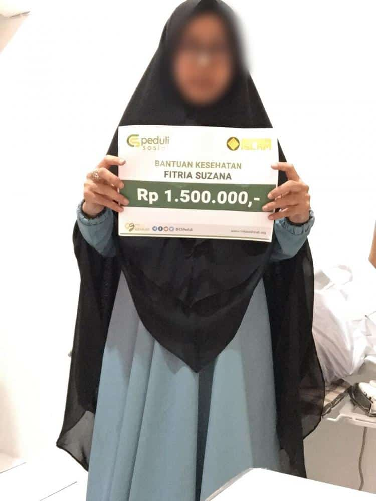 Bantuan Biaya Kesehatan Ibu Fitria Suzana