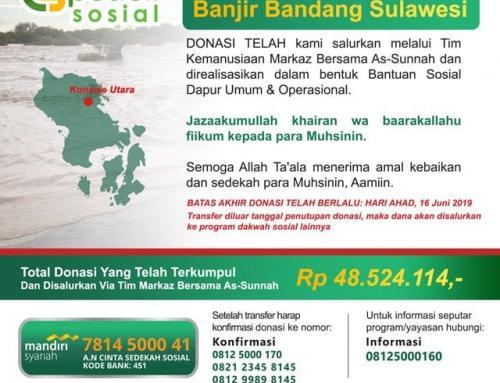 Penutupan Donasi – DONASI CS Peduli – Banjir Bandang Sulawesi