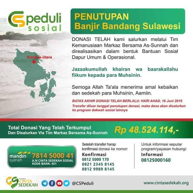 DONASI CS Peduli - Banjir Bandang Sulawesi