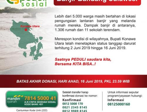 DONASI CS Peduli – Banjir Bandang Sulawesi