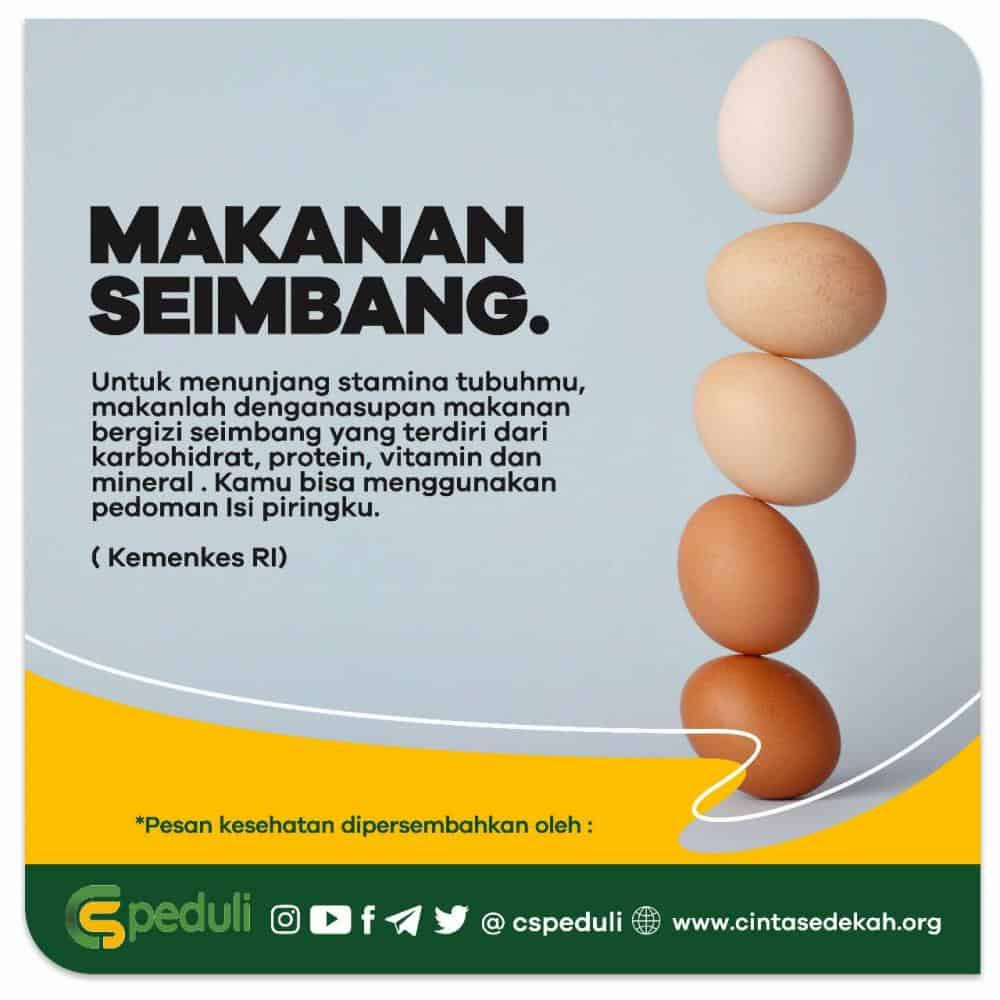 Quote Kesehatan Makanan Seimbang Yayasan Cinta Sedekah