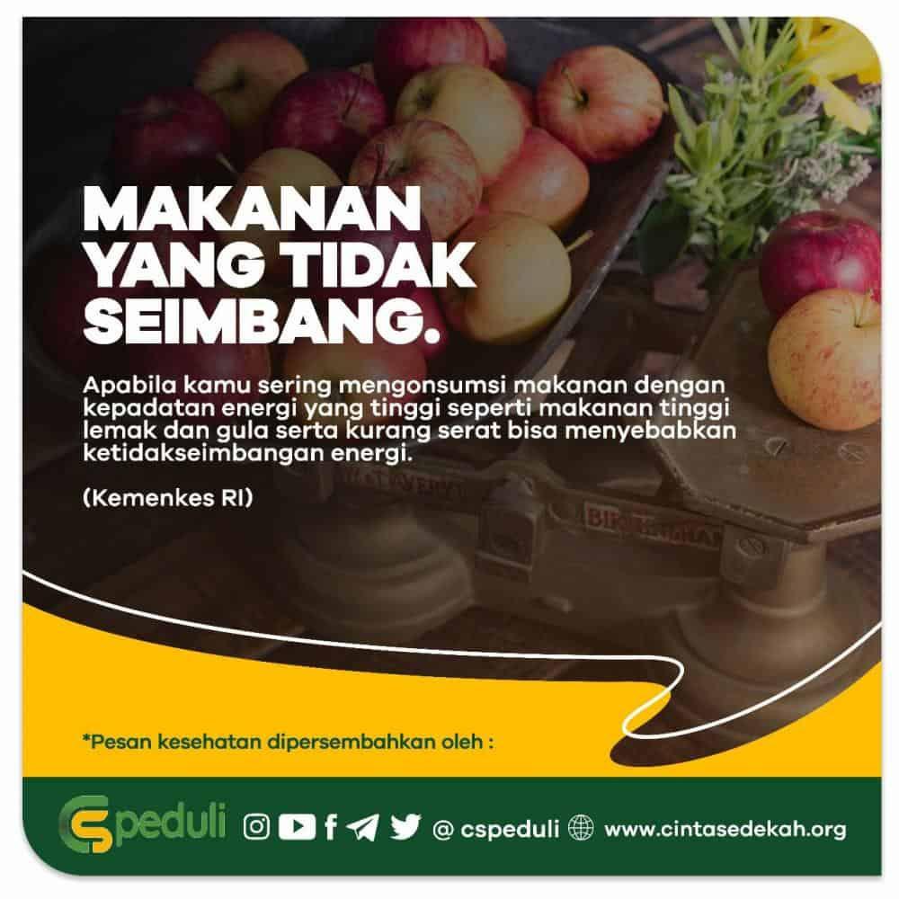Quote Kesehatan - Makanan Yang Tidak Seimbang