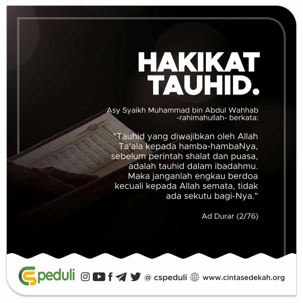 HAKIKAT TAUHID