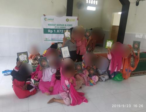 CSPeduli Dakwah – Wakaf Al Qur'an dan Iqro untuk Rumah Tahfidz Al Hikmah Lombok