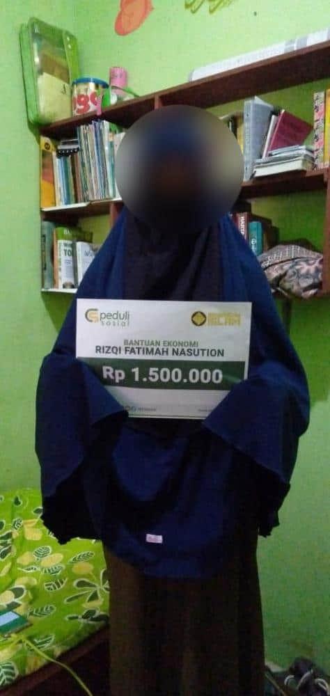 CSPeduli Sosial - Bantuan Ekonomi Saudari Rizqi Fatimah Nasution di Semarang
