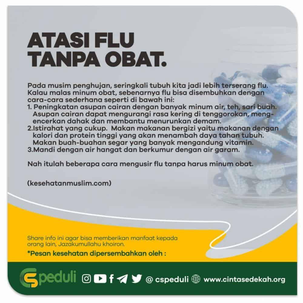 ATASI FLU TANPA OBAT