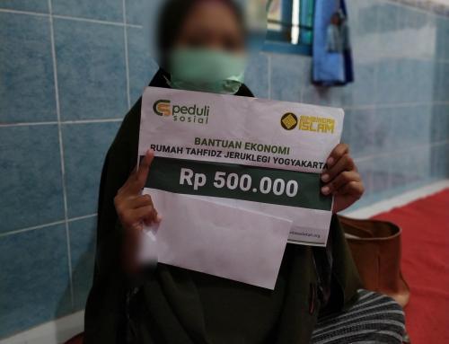 CSPeduli Sosial – Bantuan Kesehatan Orang tua dari salah satu staf pengajar dari Rumah Tahfidz Jeruklegi Yogyakarta