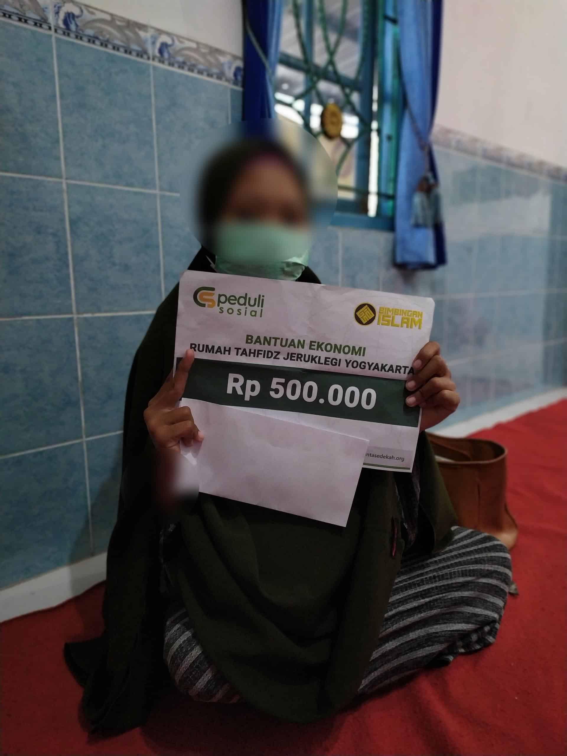CSPeduli Sosial - Bantuan Kesehatan Orang tua dari salah satu staf pengajar dari Rumah Tahfidz Jeruklegi Yogyakarta