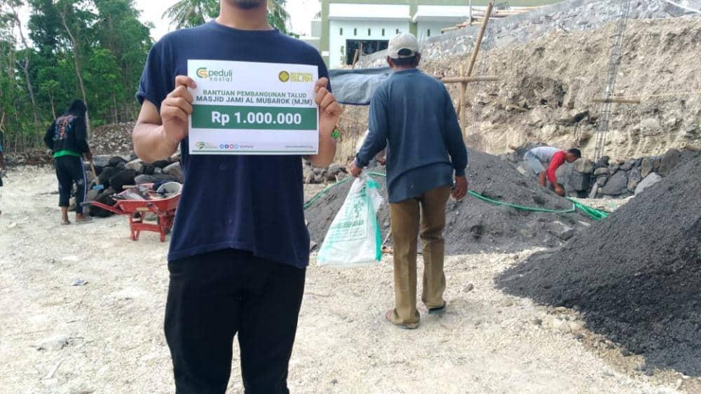 CSPeduli Dakwah - Bantuan pembangunan Talud Masjid Jami' Almubarok
