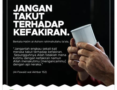 Jangan takut terhadap kefakiran