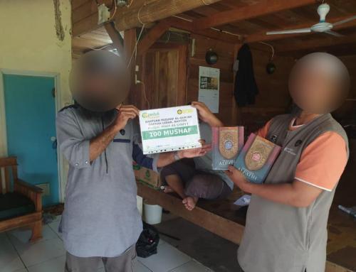 CSPeduli Dakwah – Program Tebar Al-Quran di Daerah Lebak Banten sebanyak 100 Mushaf