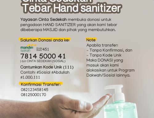 Cinta Sedekah Tebar Hand sanitizer