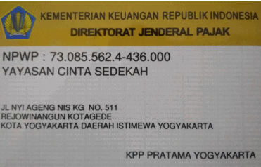 5. Surat Keterangan Terdaftar Nomor Pokok Wajib Pajak Badan Hukum