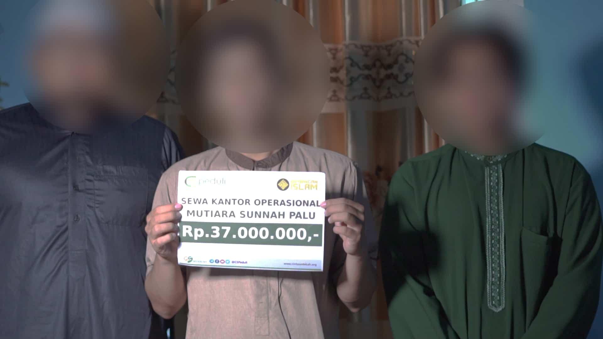 Bantuan pembayaran sewa kontrakan Rumah Tahfidz Qur'an dan Markaz Dakwah di Palu (Sulteng)