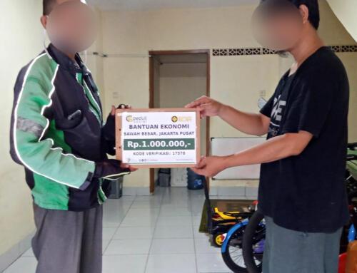 Bantuan Ekonomi Driver Ojek Online di Sawah Besar, Jakarta Pusat