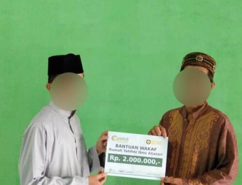 Bantuan Wakaf di Masjid Qur'an Ibnu Aljazari Subang