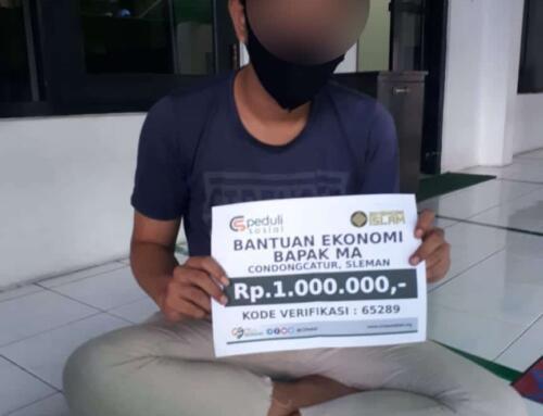 Bantuan Ekonomi Bapak MA di Condongcatur, Sleman, Yogyakarta