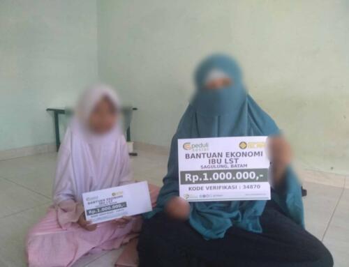 Bantuan Ekonomi kepada Ibu LST dan 3 anaknya di Batam