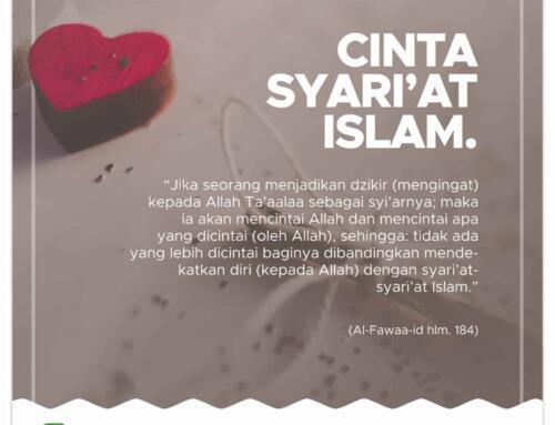 Cinta Syari'at Islam