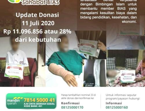 Update Donasi 11 Juli CSPeduli Sahabat BiAS – Bantuan Biaya Operasi Bapak Mulyadi