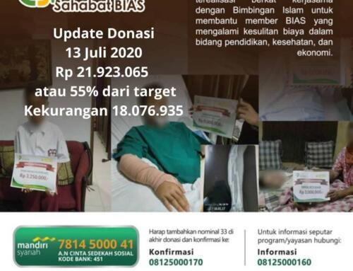 Update Donasi 13 Juli CSPeduli Sahabat BiAS – Bantuan Biaya Operasi Bapak Mulyadi