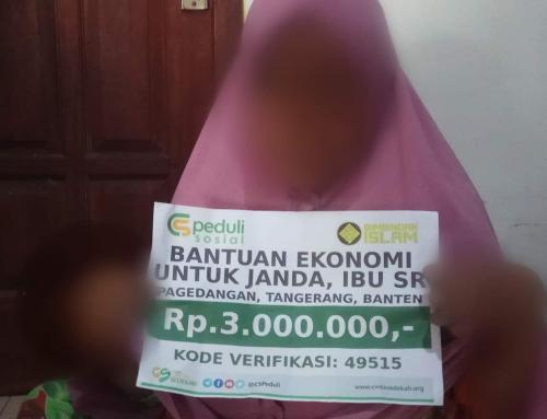 CSPeduli Sosial – Bantuan Ekonomi untuk seorang janda, 4 orang anak di Tangerang, Banten