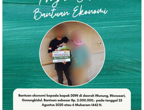 Bantuan Kesehatan dan Ekonomi di Bapak DDW di daerah Wunung, Wonosari, Gunungkidul