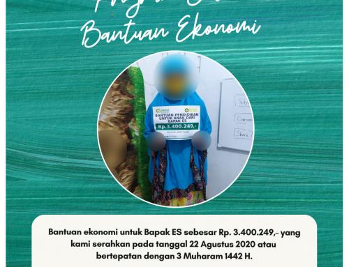 Bantuan Pendidikan Anak Bapak ES di Sidoarjo, Jawa Timur