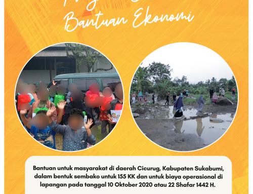 Bantuan Ekonomi musibah banjir untuk 155KK di Sukabumi