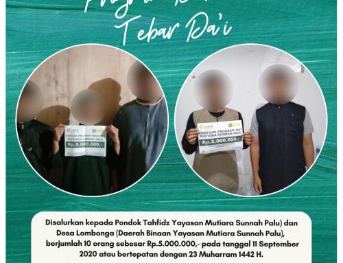 Program Dakwah Tebar Da'i Pondok Tahfidz Yayasan Mutiara Sunnah Palu