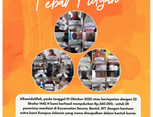 Tebar Fidyah bekerjasama dengan Kampuz Jalanan di Bantul, DIY