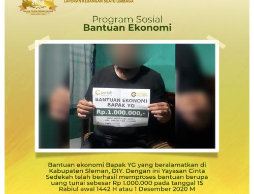 Bantuan Ekonomi Bapak YG di Depok, Sleman, Yogyakarta