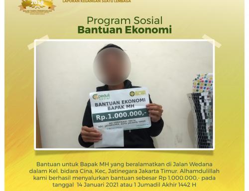 Bantuan Ekonomi untuk Bapak MH di Jatinegara, Jawa Timur